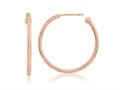 Nikki Lissoni Sterling Silver Polished Rose-tone Post Hoop Earrings