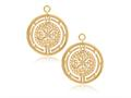 Nikki Lissoni Sterling Silver Gold-tone Roman Maze Earring Coins