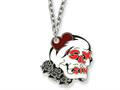 Ed Hardy Sex and Sin Skull Painted Necklace