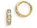 "14k Madi K Cz Children""s Hinged Hoop Earrings"