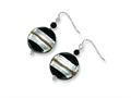 Sterling Silver Murano Glass Bead and Onyx Wire Earrings