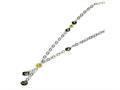 Sterling Silver Multi Murano Glass Bead Necklace