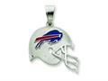 Sterling Silver Buffalo Bills Enameled Helmet Charm