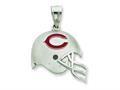 Sterling Silver Chicago Bears Enameled Helmet Charm