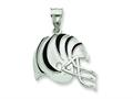 Sterling Silver Cincinnati Bengals Enameled Helmet Charm