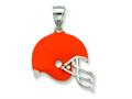 Sterling Silver Cleveland Browns Enameled Helmet Charm