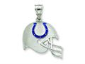 Sterling Silver Indianapolis Colts Enameled Helmet Charm