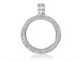 Nikki Lissoni Silver-plated Small Swarovski® Elements Coin Holder Pendant