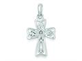 Sterling Silver Nugget Cross Pendant - Chain Included