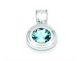 Sterling Silver Blue Topaz Pendant - Chain Included