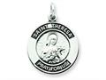 Sterling Silver Antiqued Saint Theresa Medal Pendant - Chain Included