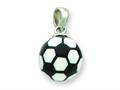 Sterling Silver Resin Small Soccerball Pendant - Chain Included