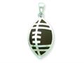 Sterling Silver Resin Football Pendant - Chain Included