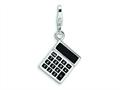 Amore LaVita™ Sterling Silver 3-D Enameled Calculator w/Lobster Clasp Bracelet Charm