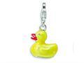 Amore LaVita™ Sterling Silver Enamel Duck w/Lobster Clasp Bracelet Charm