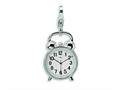 Amore LaVita™ Sterling Silver 3-D Alarm Clock w/Lobster Clasp Bracelet Charm