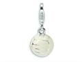 Amore LaVita™ Sterling Silver Polished Volleyball w/Lobster Clasp Bracelet Charm
