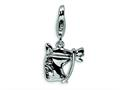 Amore LaVita™ Sterling Silver Horsehead w/Lobster Clasp Bracelet Charm