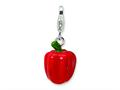 Amore LaVita™ Sterling Silver 3-D Enameled Red Pepper w/Lobster Clasp Charm for Charm Bracelet