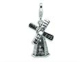 Amore LaVita™ Sterling Silver 3-D Enameled Windmill w/Lobster Clasp Charm (Moveable) for Charm Bracelet