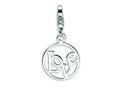 Amore LaVita Sterling Silver Love Clip-on w/Lobster Clasp Charm for Charm Bracelet