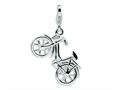 Amore LaVita™ Sterling Silver 3-D Enameled Bicycle w/Lobster Clasp Charm (Moveable) for Charm Bracelet