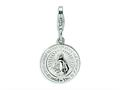 Amore LaVita™ Sterling Silver Miraculous Medal w/Lobster Clasp Bracelet Charm