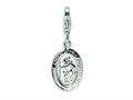 Amore LaVita Sterling Silver Saint Christopher Medal w/Lobster Clasp Charm for Charm Bracelet