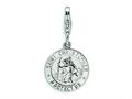 Amore LaVita™ Sterling Silver St. Christopher Medal w/Lobster Clasp Bracelet Charm
