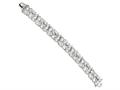 Cheryl M™ Sterling Silver CZ Fancy 7.5in Bracelet