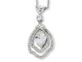 Cheryl M™ Sterling Silver Marquise CZ 18in Necklace