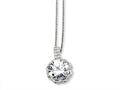 Cheryl M Sterling Silver Round CZ 18in Necklace