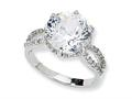 Cheryl M™ Sterling Silver 100-facet CZ Ring