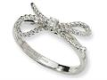 Cheryl M™ Sterling Silver Fancy Bow CZ Ring