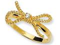 Cheryl M™ Gold Plated Sterling Silver Fancy Bow CZ Ring