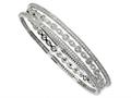 Cheryl M™ Sterling Silver CZ Three Bangle Set