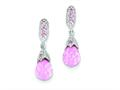 Sterling Silver Pink Cubic Zirconia Earrings