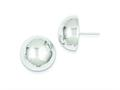 Sterling Silver 18mm Half Ball Earrings