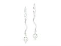 Sterling Silver Bead Leverback Earrings