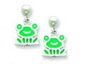 Sterling Silver Frog Resin Earrings