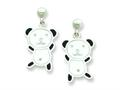 Panda Resin Bear Earrings