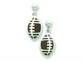 Sterling Silver Football Resin Earrings