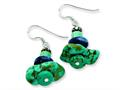 Sterling Silver Howlite/lapis/turquoise/reconstructed Stone Earrings