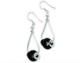 Sterling Silver and Black Onyx Bead Dangle Earrings