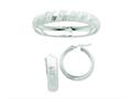 Sterling Silver Satin and Polished Bangle And 35mm Earrings Set