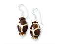 Sterling Silver Glass Bead/agate/mop Earrings