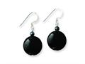 Sterling Silver Black Agate and Hematite Earrings