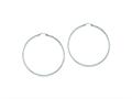 Sterling Silver Diamond Cut 2x70mm Hoop Earrings