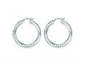 Sterling Silver Bright Cut Hoop Earrings