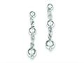 Sterling Silver Polished Bead Post Dangle Earrings